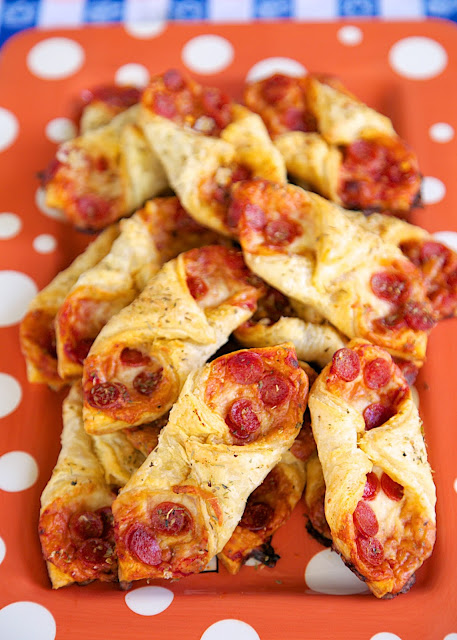 Pepperoni Pizza Pastry Puffs