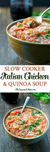 Slow Cooker Italian Chicken and Quinoa Soup