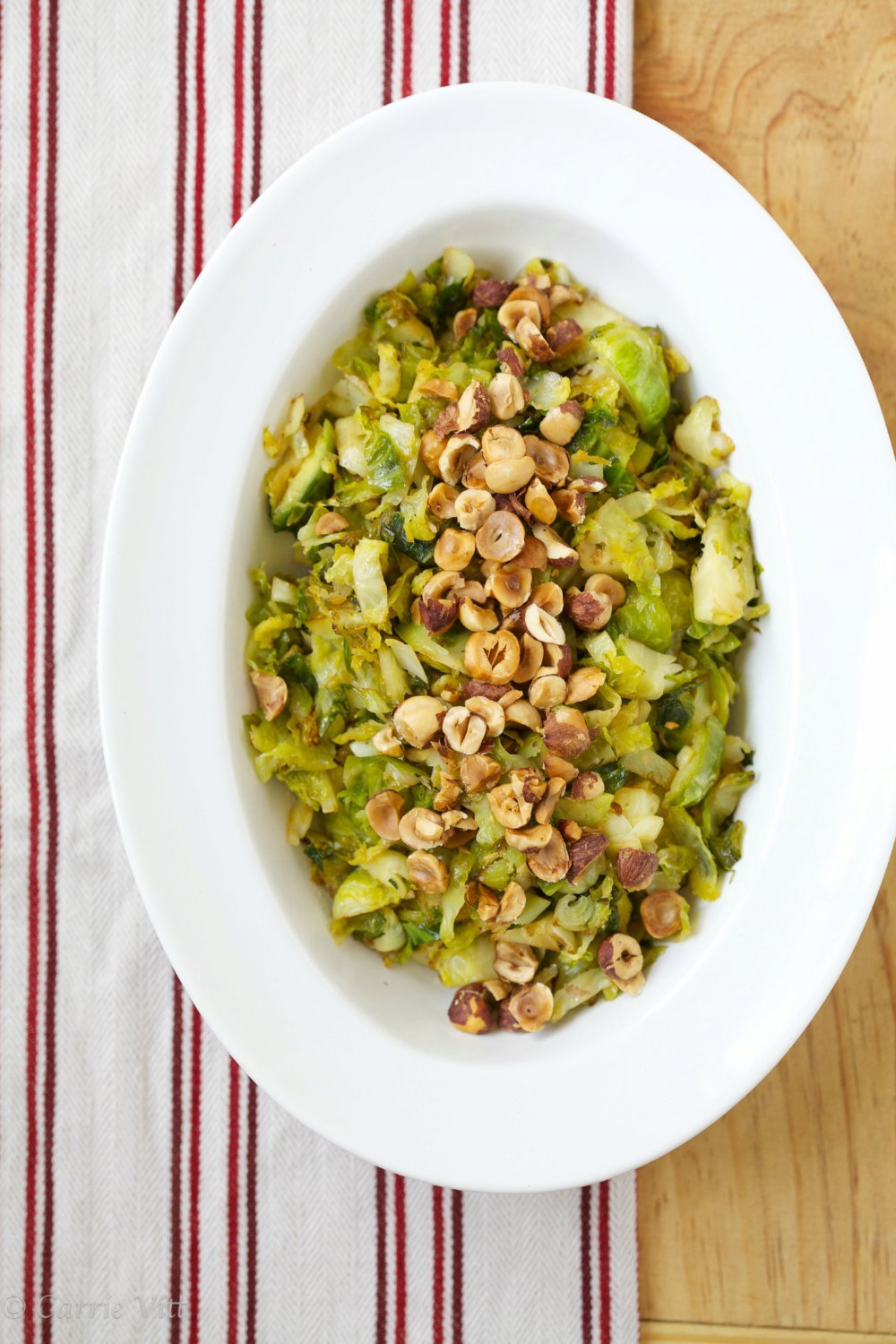 Brussels Sprouts with Lemon and Hazelnuts