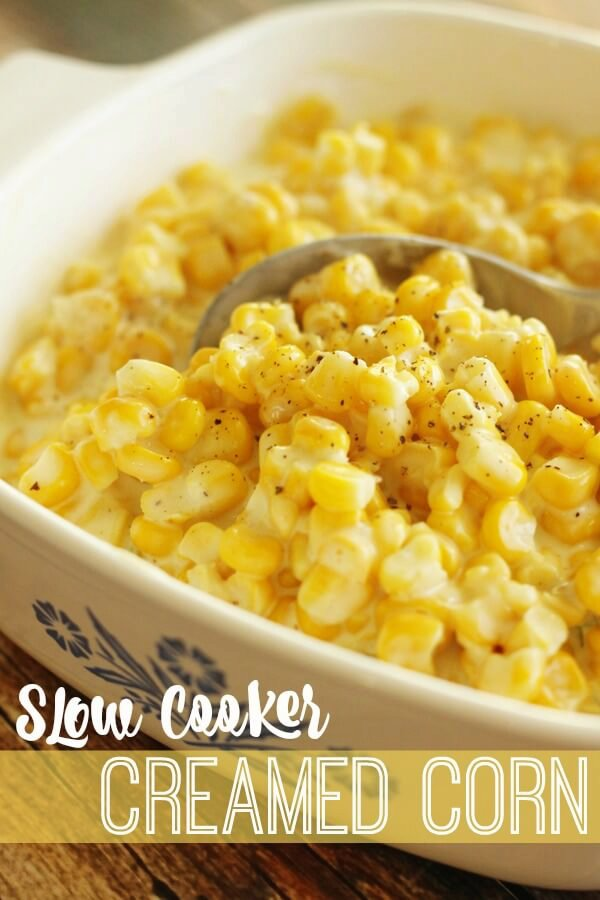 Slow Cooker Creamed Corn Side Dish