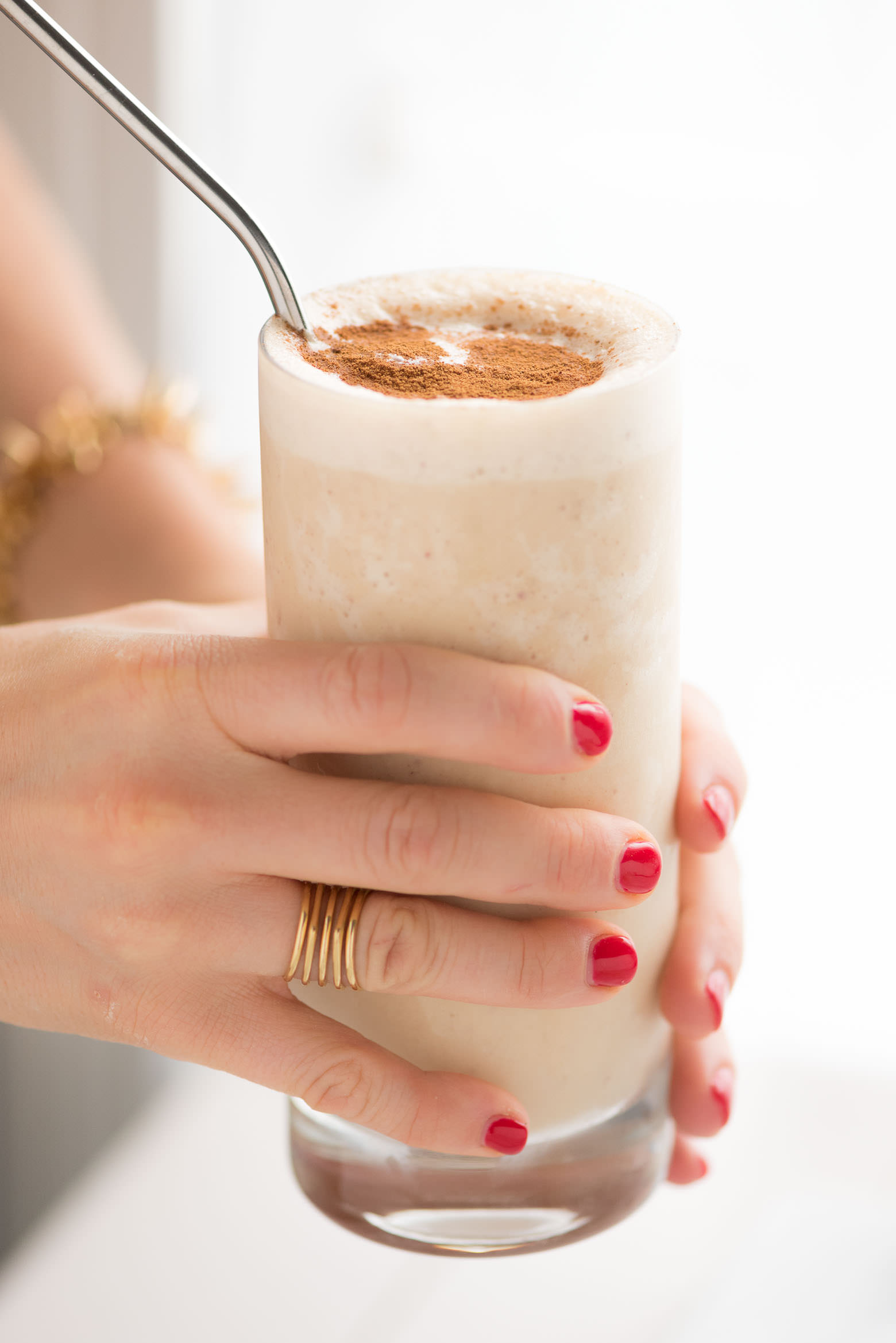 Peanut Butter Oatmeal Apple Smoothie