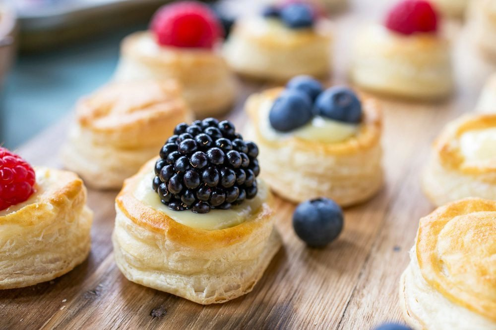 Red, White, and Blue Mini Berry Tarts