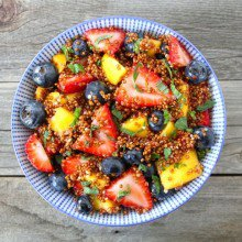 Quinoa Fruit Salad Quinoa Fruit Salad with Honey Lime Dressing