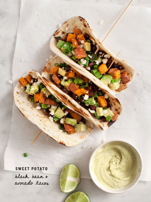 Sweet Potato Avocado Tacos