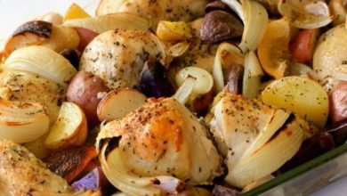 Baked Chicken With Potatoes & Onions
