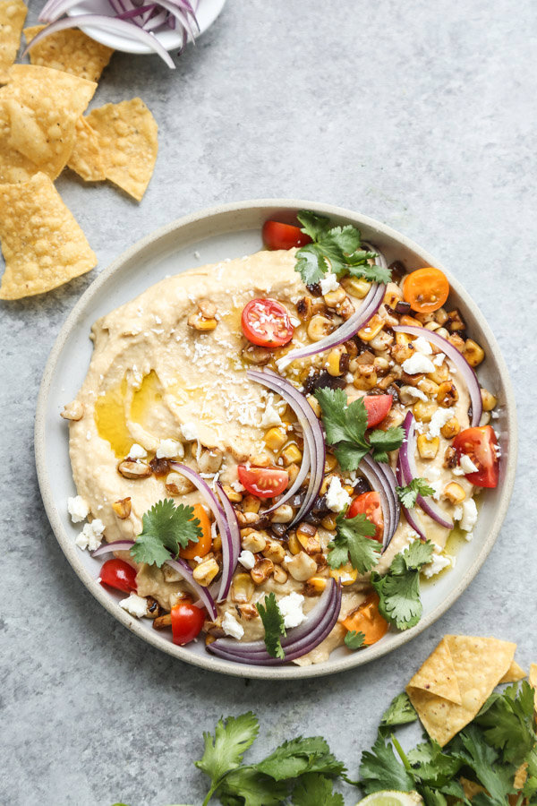 Loaded Southwestern-Style Spicy Hummus