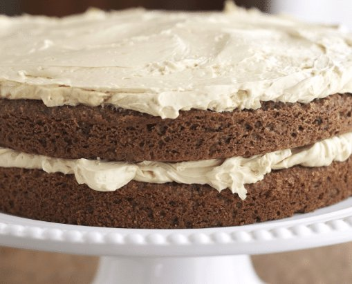 Almond Cake with Maple Buttercream