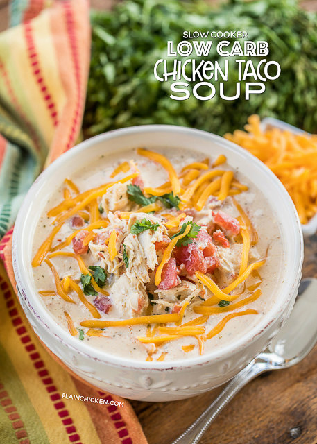 Low Carb Chicken Taco Soup