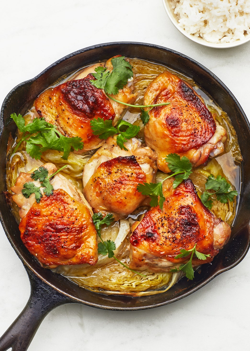 Thai Roast Chicken Thighs With Coconut Rice