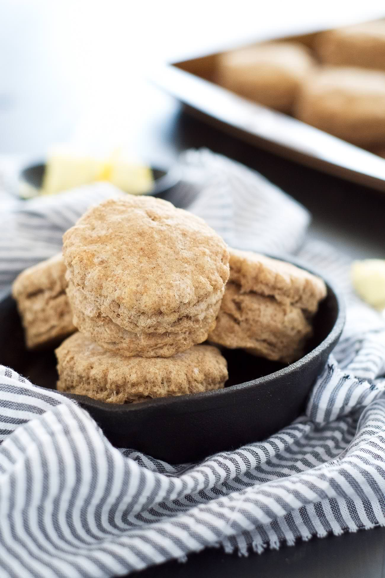 20 Minute Flaky Whole Wheat Biscuits